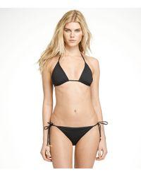 Tory Burch | Black Solid String Bikini Top | Lyst