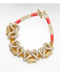 Tory Burch - Metallic Cactus Wreath Necklace - Lyst