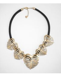 Tory Burch | Metallic Heart Of Palm Wreath Necklace | Lyst