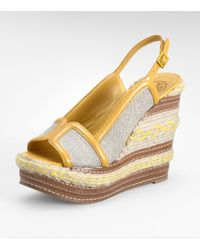 Tory Burch | Yellow Breacher High Wedge | Lyst