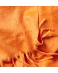 Turnbull & Asser - Orange Classic Cashmere Scarf for Men - Lyst