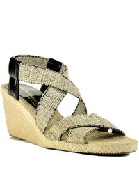 Andre Assous | Dalmira Rustico - Natural Canvas Wedge Espadrille | Lyst
