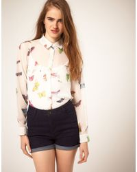 ASOS Collection | White Shirt With Bug Print | Lyst