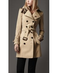 Burberry | Natural Leather Belt Trench Coat | Lyst