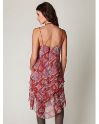Free People | Red Daisy Chain Plaid Dress | Lyst