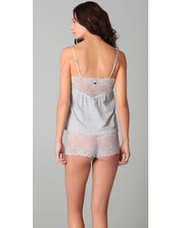 Juicy Couture - Gray Beautiful Dreamer Camisole & Boy Shorts Set - Lyst