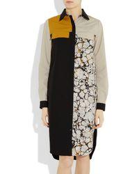 Proenza Schouler - Black Block-print Shirt Dress - Lyst