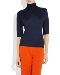 Ralph Lauren Collection   Blue Cashmere-silk Turtleneck   Lyst