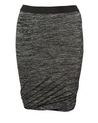 T By Alexander Wang | Gray Marled Draped-hem Skirt | Lyst