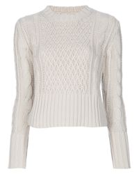 Acne | Beige Lia Cable Jumper | Lyst