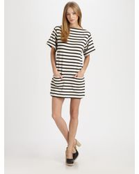 By Malene Birger | Black Nagat Striped Dress | Lyst