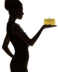 Judith Leiber | Yellow Slide Lock Minaudiere Clutch | Lyst