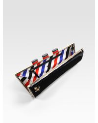 Kate Spade | Black Ship Patent Leather Clutch | Lyst