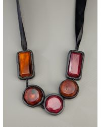 Marni   Black Chunky Bead Necklace   Lyst