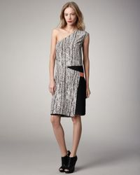 Sachin & Babi | Multicolor Isis One-shoulder Snake-print Dress | Lyst
