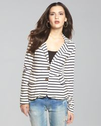 Splendid | Blue Striped Palm Desert Blazer | Lyst