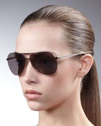 Marc By Marc Jacobs | Black Rimless-illusion Aviators | Lyst