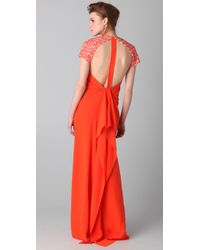 3.1 Phillip Lim - Multicolor Leopard Sleeve T-back Gown - Lyst