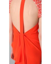 3.1 Phillip Lim | Multicolor Leopard Sleeve T-back Gown | Lyst