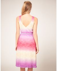 ASOS Collection - Multicolor Asos Petite Exclusive Midi Dress In Multi Coloured Lace - Lyst