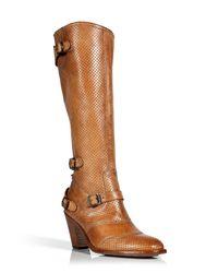 Belstaff | Brown Burnt Cuero Trialmaster Vent Boots | Lyst