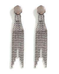 DANNIJO - Metallic Drake Silver Swarovski Crystal Earrings - Lyst