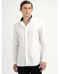 Dior Homme - White Reverse-collar Shirt for Men - Lyst
