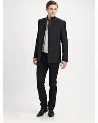 Dior Homme | Black Stand-collar Wool Coat for Men | Lyst