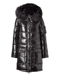 Duvetica | The Corcira Black Hooded Down Coat | Lyst