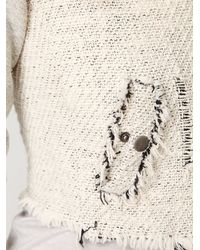 Free People - White Textured Zip Up Jacket - Lyst