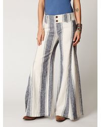 Free People - Natural Fp Linen Extreme Flare - Lyst