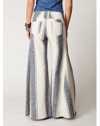 Free People | Natural Fp Linen Extreme Flare | Lyst