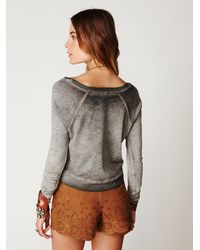Free People | Gray Must Be Dreamin Tee | Lyst