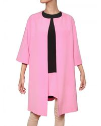 Gianluca Capannolo | Pink A-line Silk Crepe Coat | Lyst