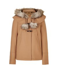 Juicy Couture | Natural Camel Short Duffle Coat | Lyst