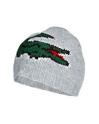 Lacoste - Gray Light Grey Big Logo Cap for Men - Lyst