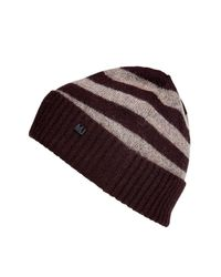 Marc By Marc Jacobs | Brown Chocolate Multi Stripe Beanie for Men | Lyst