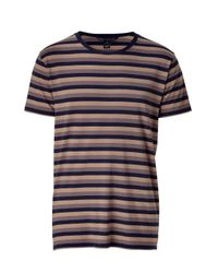 Marc By Marc Jacobs - Black Lavender/grey Multi Color Striped T-shirt for Men - Lyst