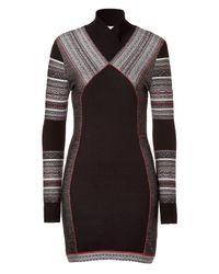 Matthew Williamson | Black Paneled Knit Dress | Lyst