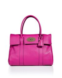 Mulberry | Pink Hot Fuchsia Bayswater Bag | Lyst