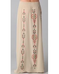 Parker - Natural Native Embroidery Skirt - Lyst