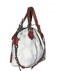 Pauric Sweeney - Metallic Python Overnight Shoulder Bag - Lyst