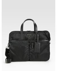 Prada | Black Nylon Weekender Bag for Men | Lyst