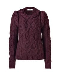 Pringle of Scotland | Red Dark Iris Cashmere Pullover | Lyst