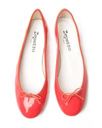 Repetto | Pink Bb Patent Ballet Flat | Lyst