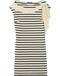 Rochas | Natural Striped Cotton Dress | Lyst