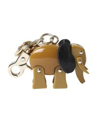 See By Chloé | Brown Elephant Keyring | Lyst
