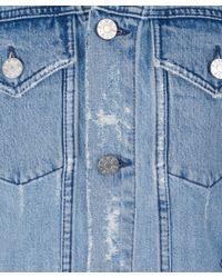 Acne Studios - Blue Fever Trash Distressed Denim Jacket - Lyst