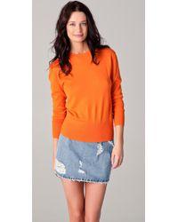 Acne Studios | Orange Lia Fine-knit Cashmere Sweater | Lyst