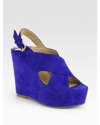 Dolce Vita | Blue Womens Julie Wedge Sandal | Lyst